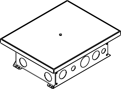 CCBBS-OG Series 12-Gang Recessed Floor Box, CCBBS-OG