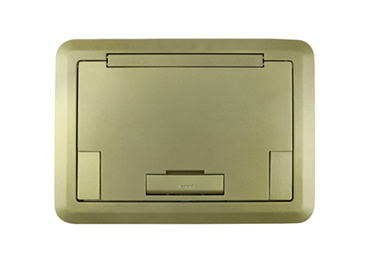 Surface Style Cover With Solid Lid Brass Powder Coated Finish, EFB45BTCBS