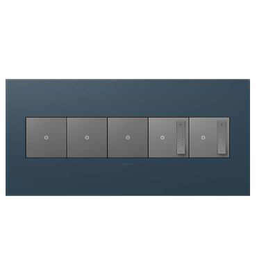 adorne 5-Gang Felt Green Wall Plate