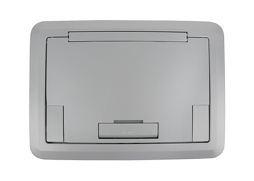 Surface Style Cover With Solid Lid Aluminum Powder Coated Finish, EFB45BTCAL