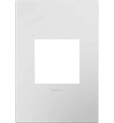 adorne 1-Gang Powder White Wall Plate