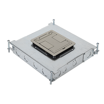 RFB6 Six-Compartment Single- or Multi-Service Recessed Floor Box