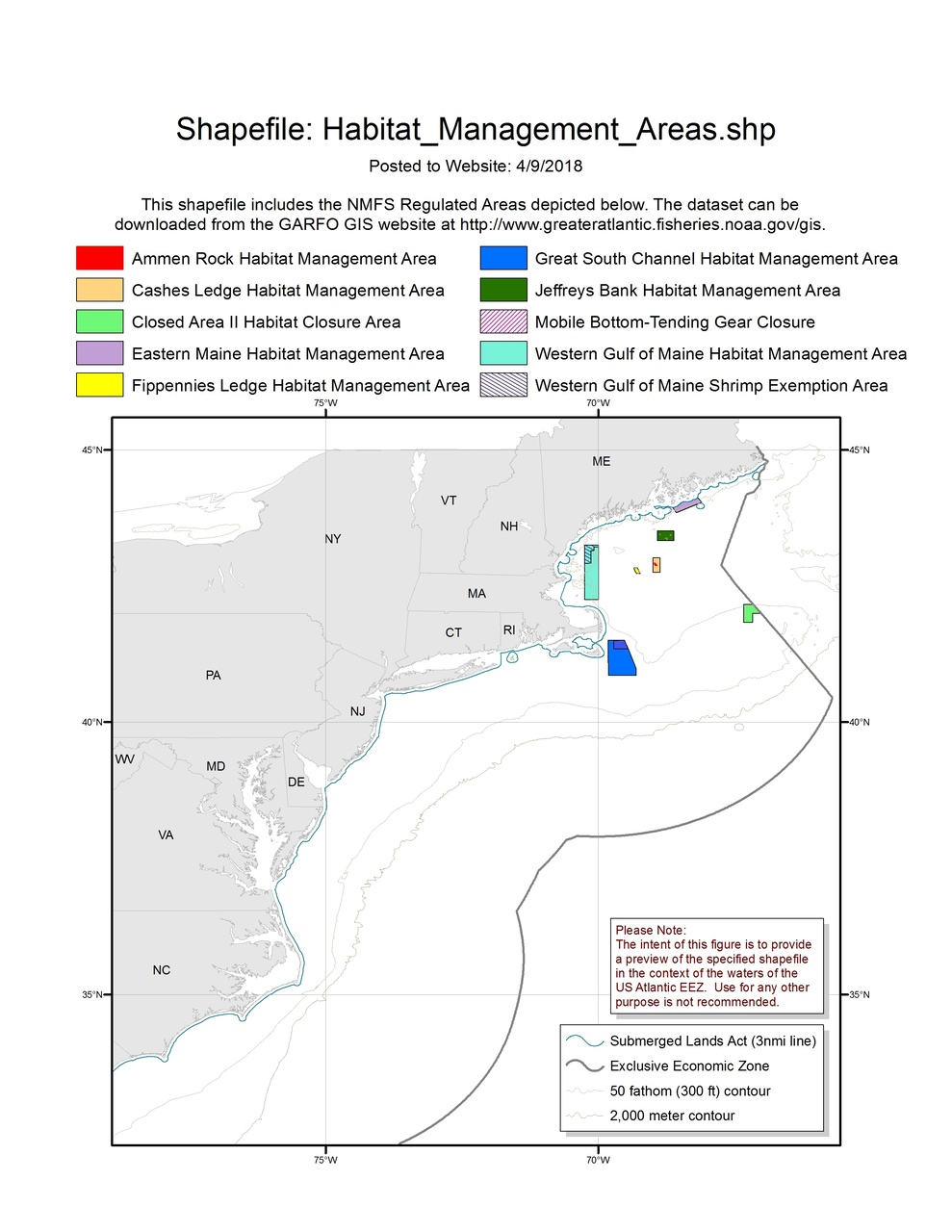 Habitat Management Areas Map Gis Noaa Fisheries