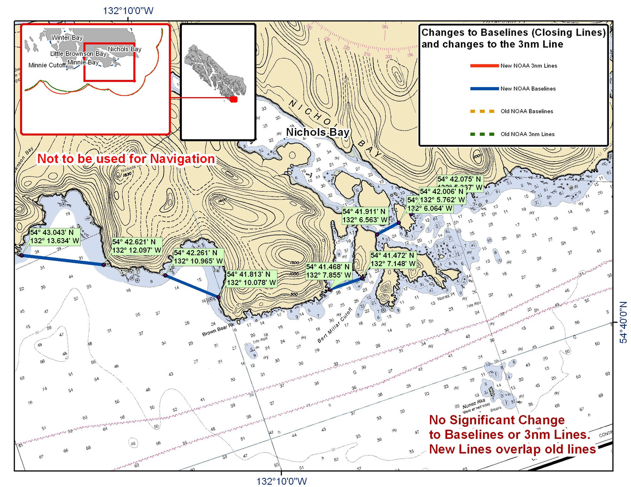 Chart for Nichols Bay and the Surrounding Area