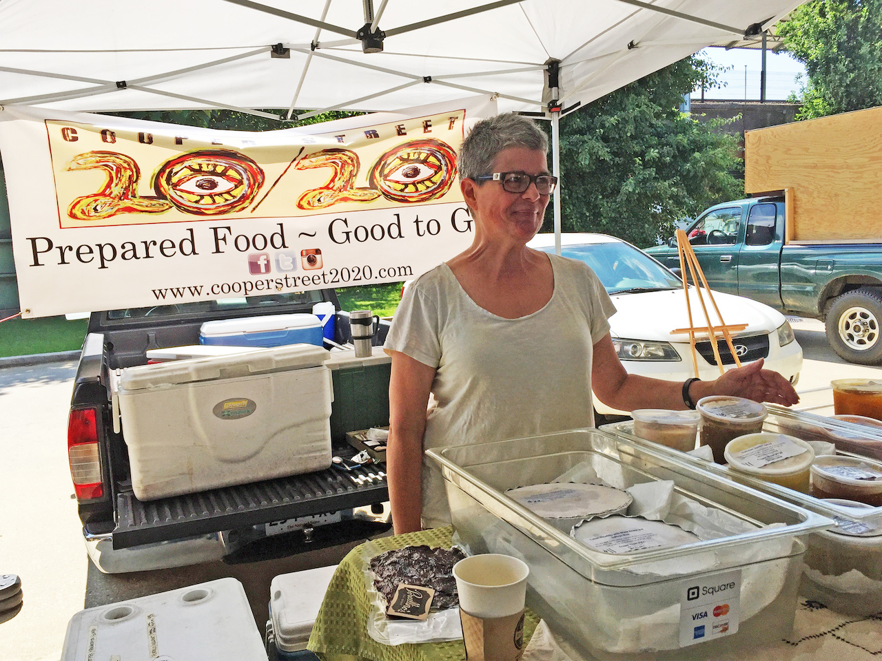 Cooper Street-20/20 owner Kathy Katz with some of her delicious products.