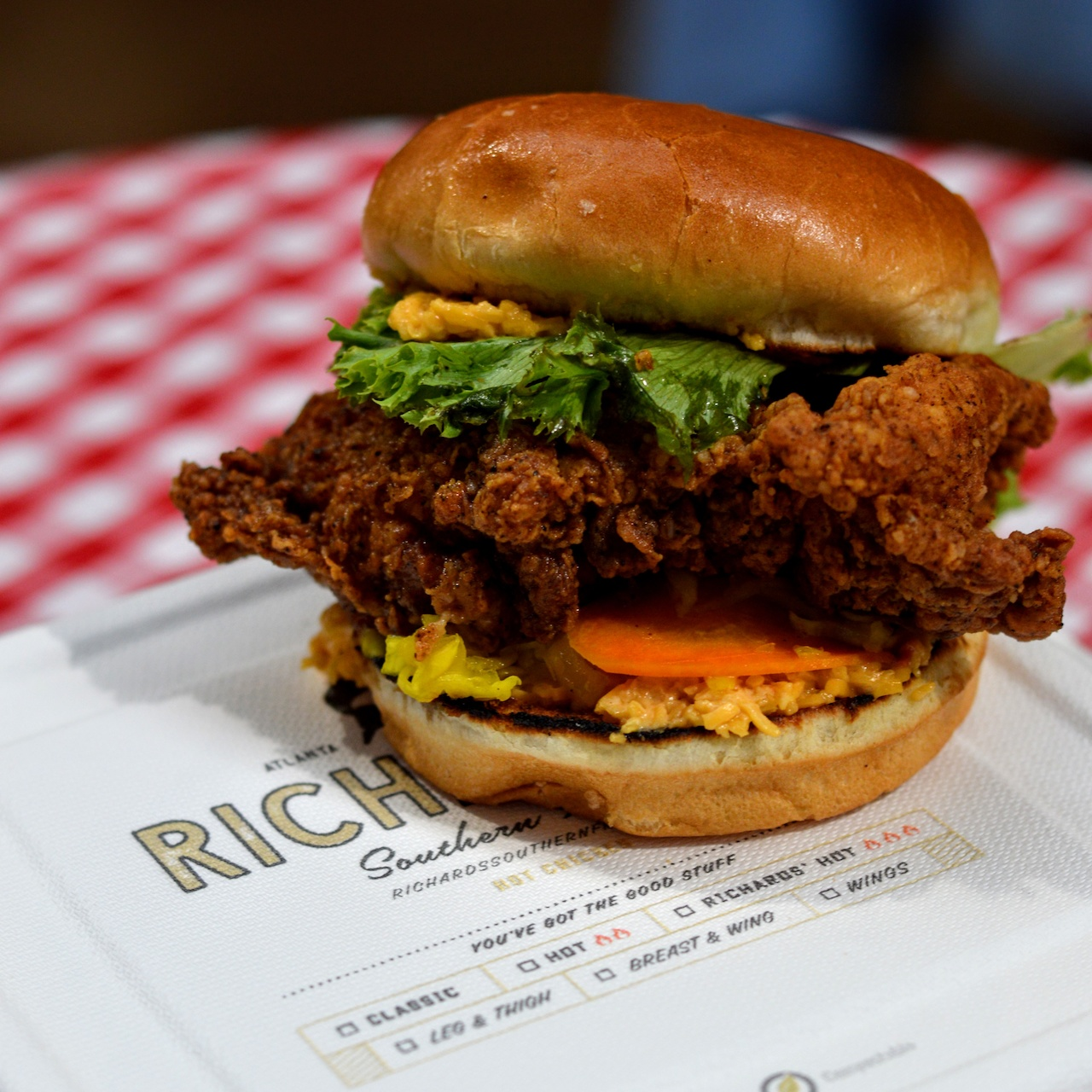 Richards' Southern Fried chicken sandwich