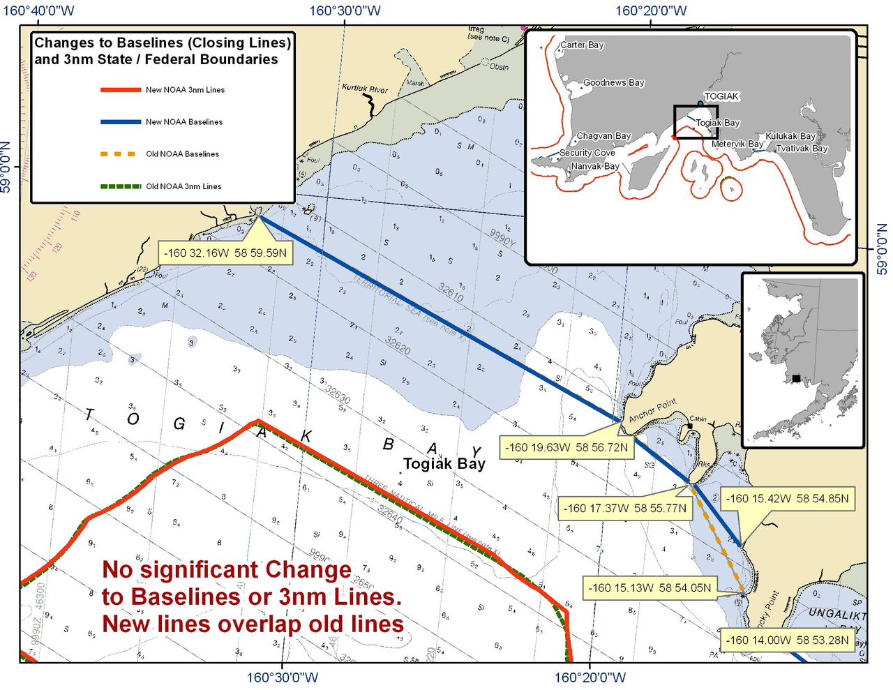 Chart for Togiak Bay