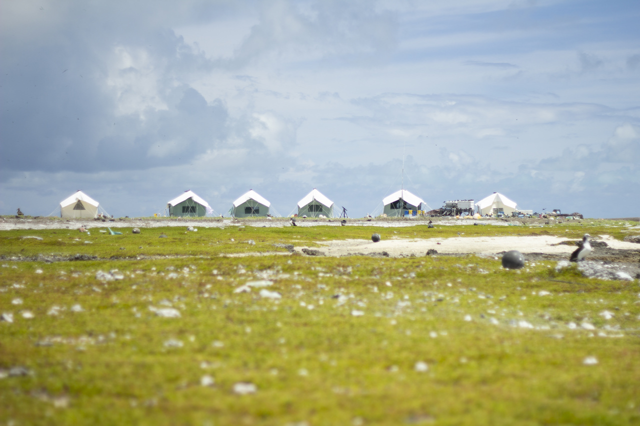 Field camps in the Northwestern Hawaiian Islands.