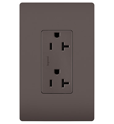20A Spec-Grade Tamper-Resistant Receptacle, Brown