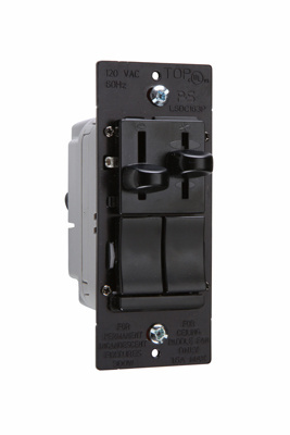 LS Series Dual Fan Speed Control/Dimmer, LSDC163PBKV