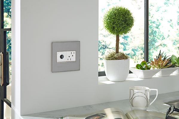 adorne Wave Switch and Outlet in Kitchen