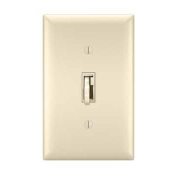 Toggle Slide Dimmer CFL/LED, Single Pole / 3-Way 300W, Light Almond