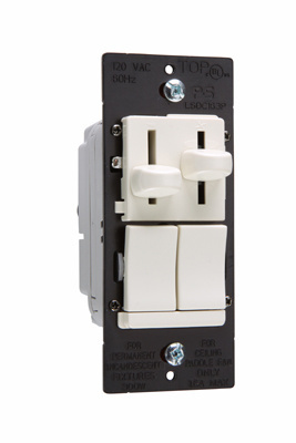 LS Series Dual Fan Speed Control/Dimmer, LSDC163PLAV