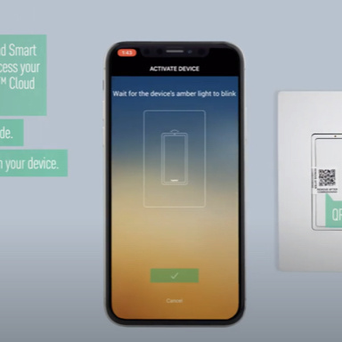 Smart Lights app open on phone for installation instructions