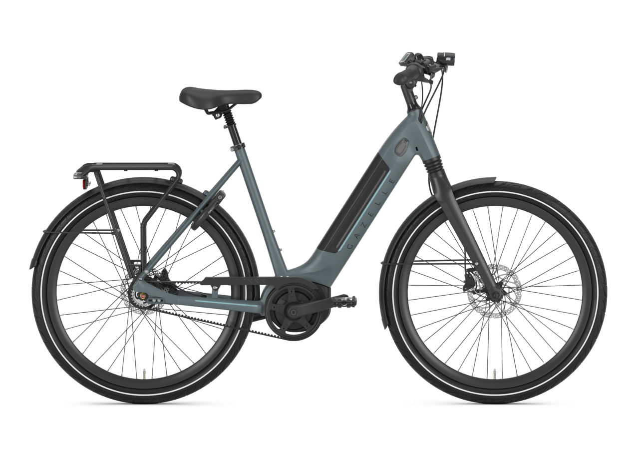 dark green commuter bike which can also be used for touring