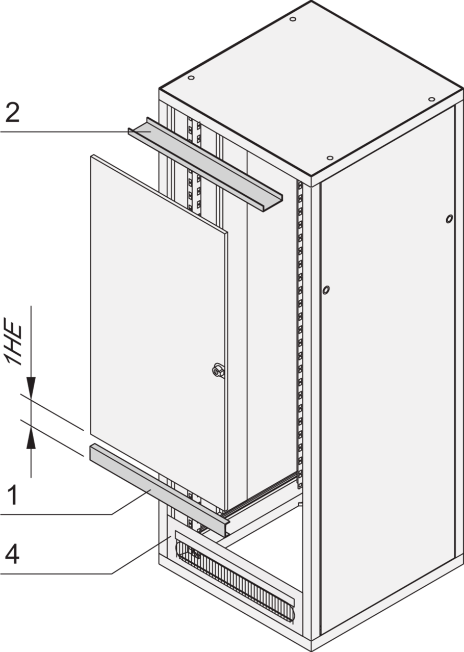 Image for Door hinge bracket for shortened doors (Eurorack) from Schroff - North America