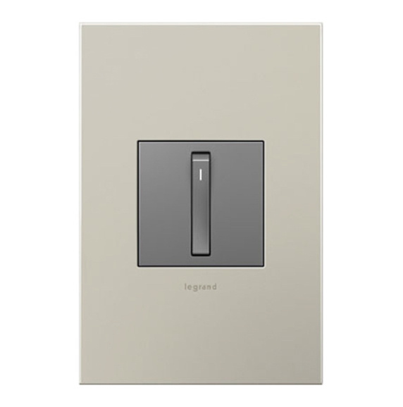 adorne magnesium whisper switch with wall plate image