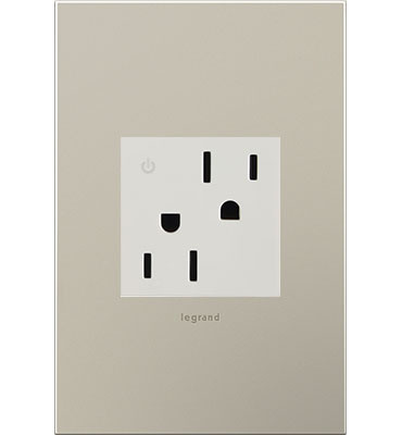 adorne White Tamper-Resistant Dual Controlled Outlet