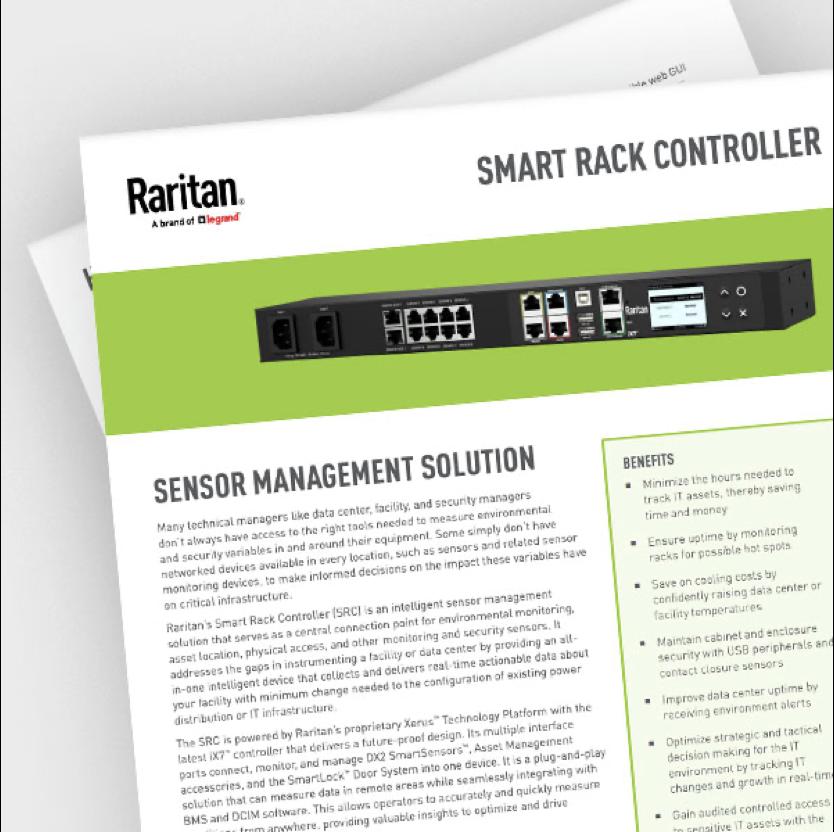 Cover of the Intelligent Sensors data sheet