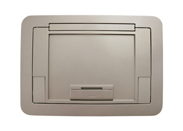 Flush Style Cover with Floor Insert Nickel Powder Coated Finish, EFB45CTNK