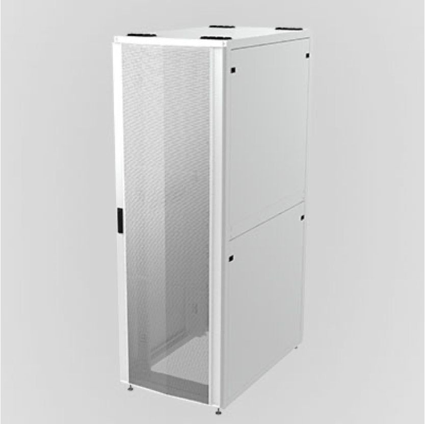 white data center cabinet