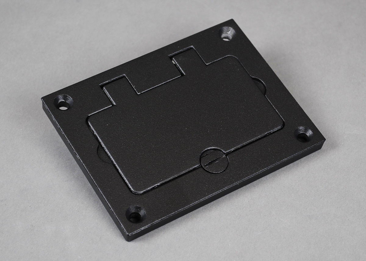 Powder-Coated Alum Rectangular Cover Plate-Nickel - 828GFITCAL-NK