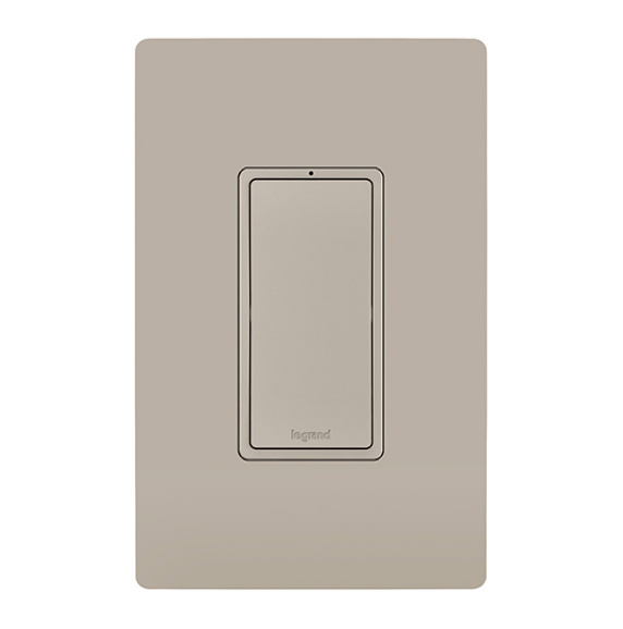 radiant rocker switch and matching wall plate
