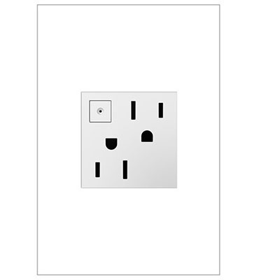 Energy-Saving On / Off Outlet, White