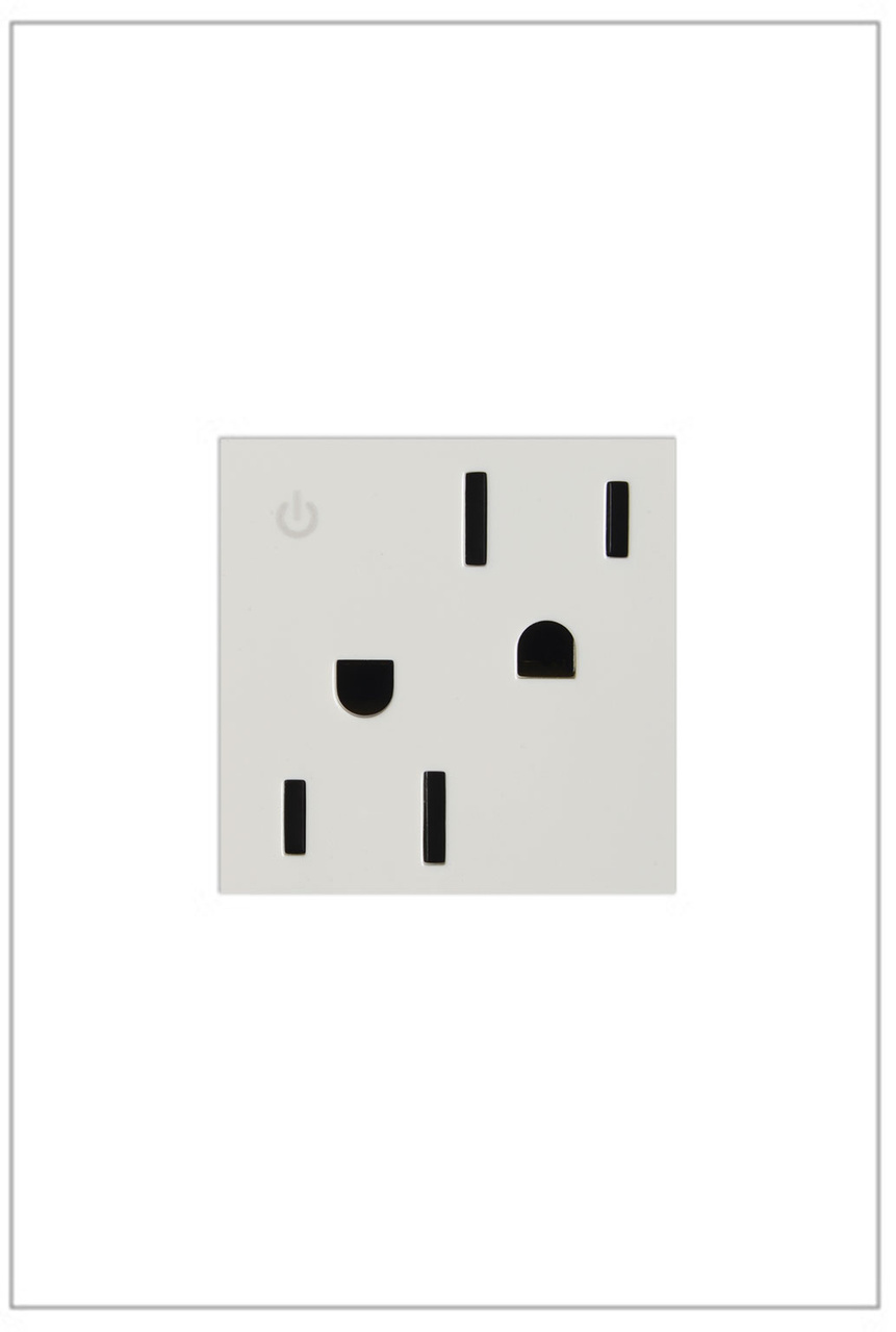 Dual Controlled Outlet, 15A, White