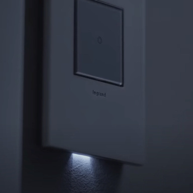 dark light switch with light underneath wall plate