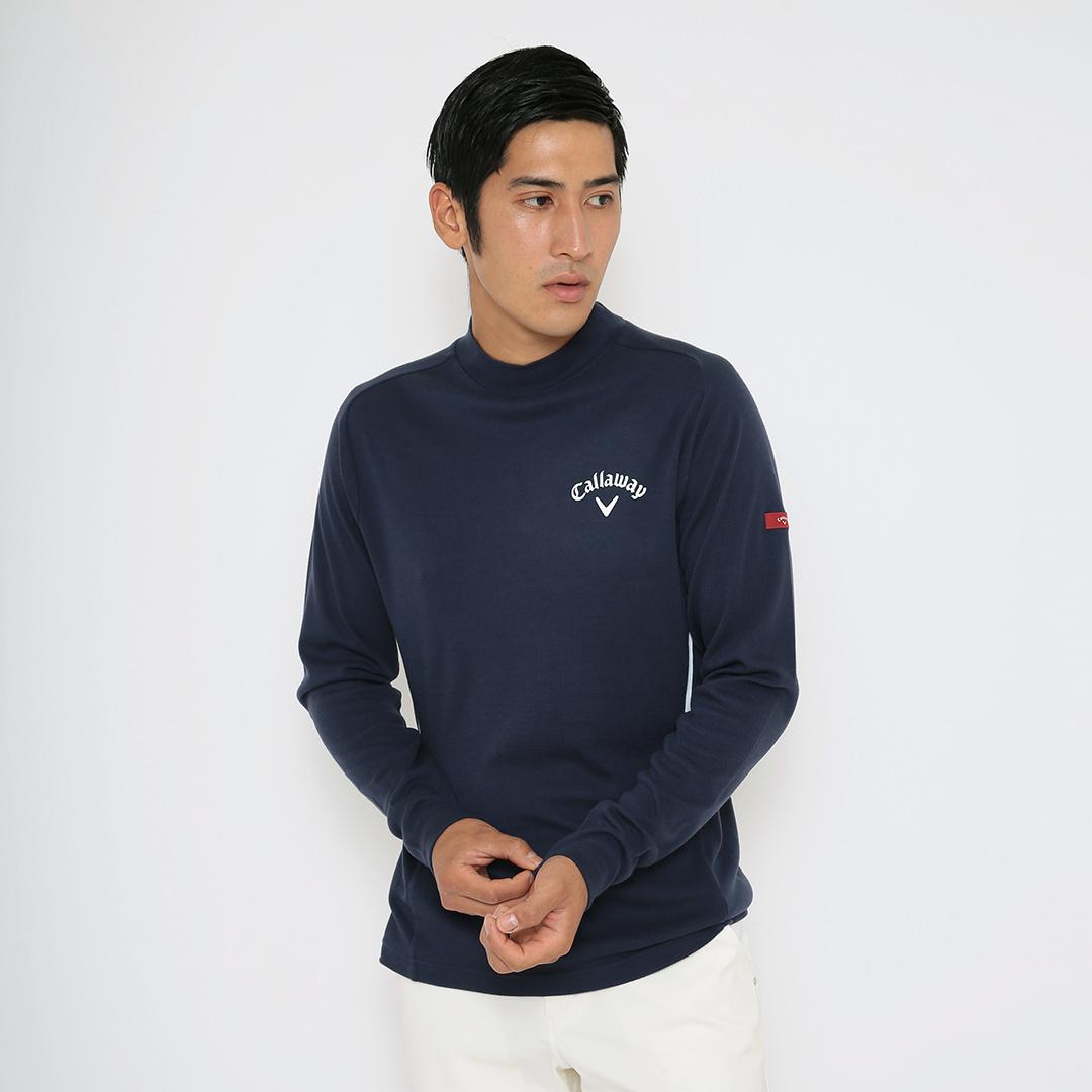 CALLAWAY RED LABEL 微起毛ソフトタッチスムースモックネックシャツ (MENS)