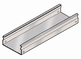 Fiber Trough Straight Section Tray Base, FT