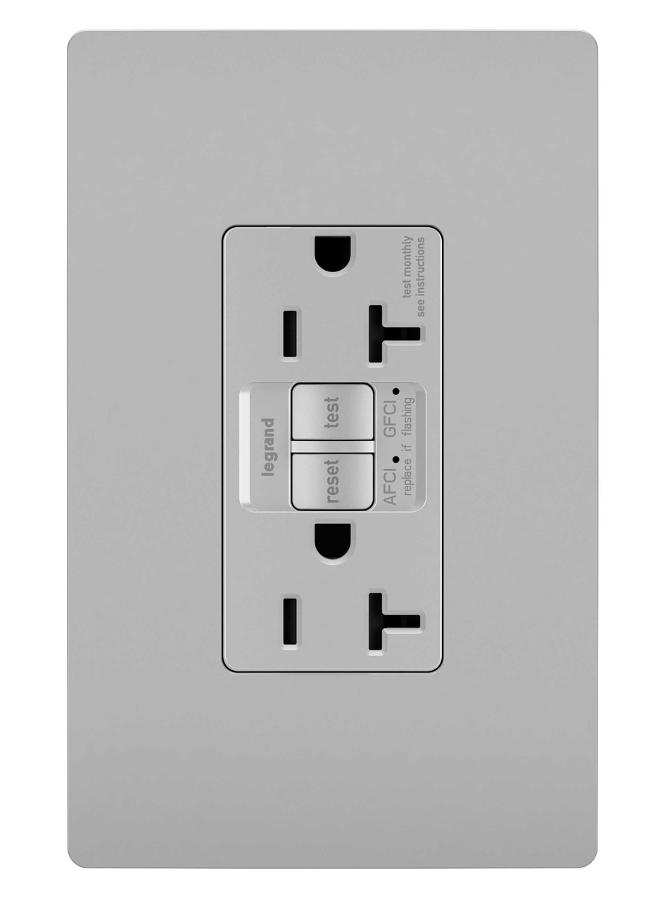 radiant® Dual Function Tamper-Resistant AFCI/GFCI Receptacle, Gray ...