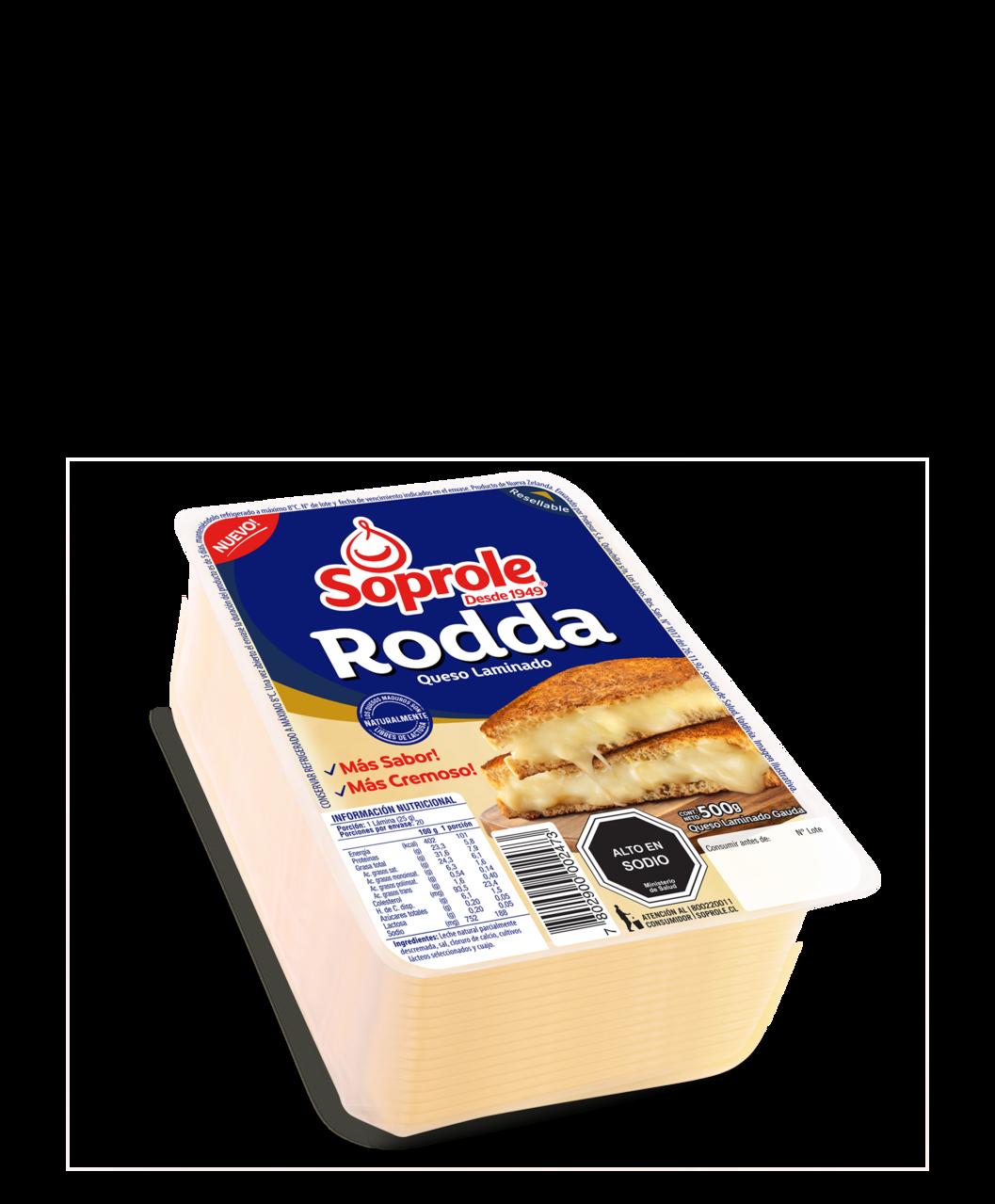 Soprole queso Rodda laminado 500g