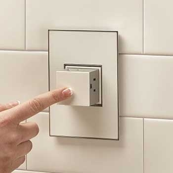 pop out outlet 15a 1 gang white cabinet outlets switches