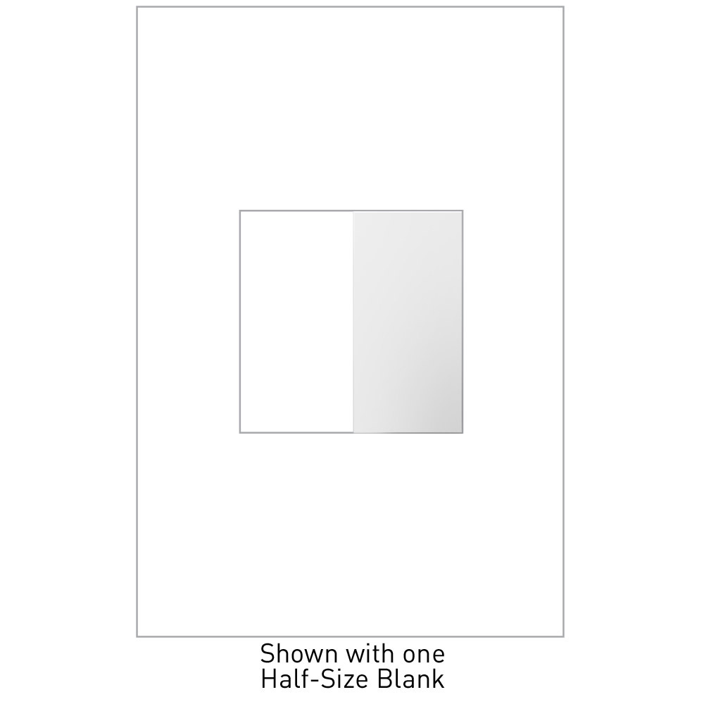 adorne White Half Size Blank Switch
