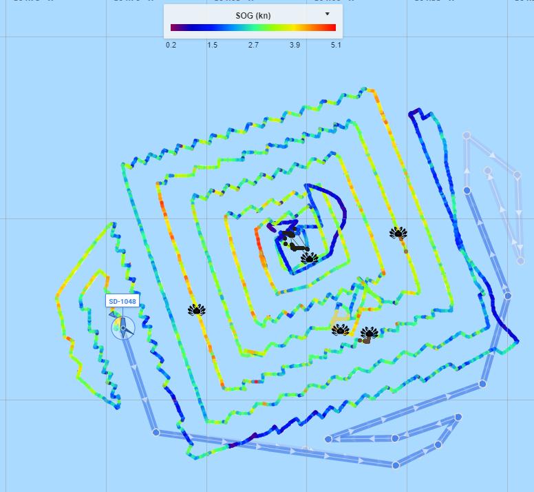 Saildrone search track