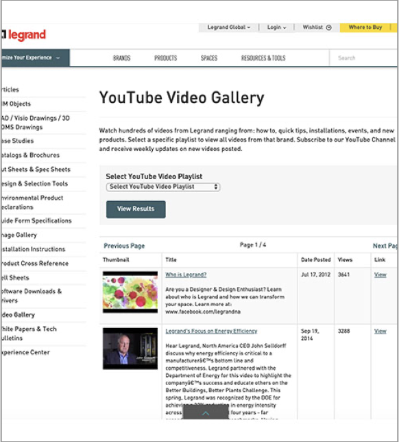 Legrand YouTube Video Gallery image
