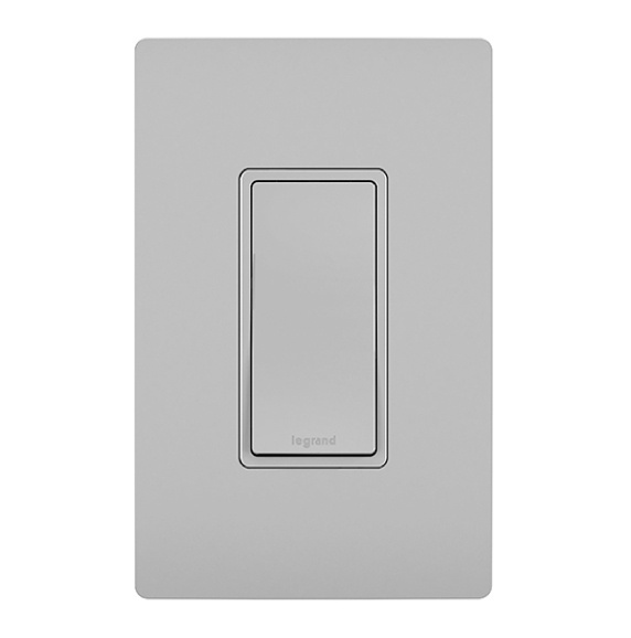 gray radiant rocker switch and matching wall plate