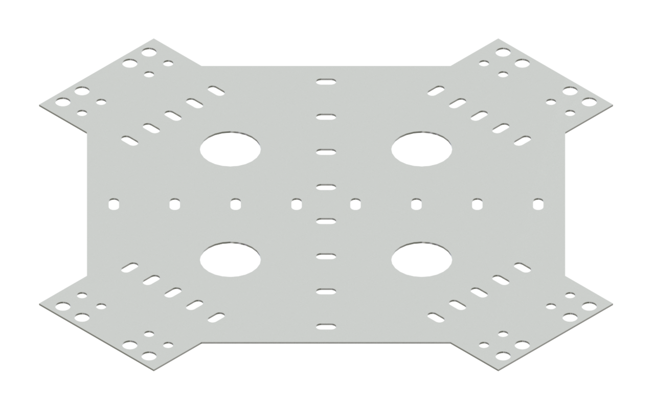 Cable Channel Tray Horizontal Cross Connector