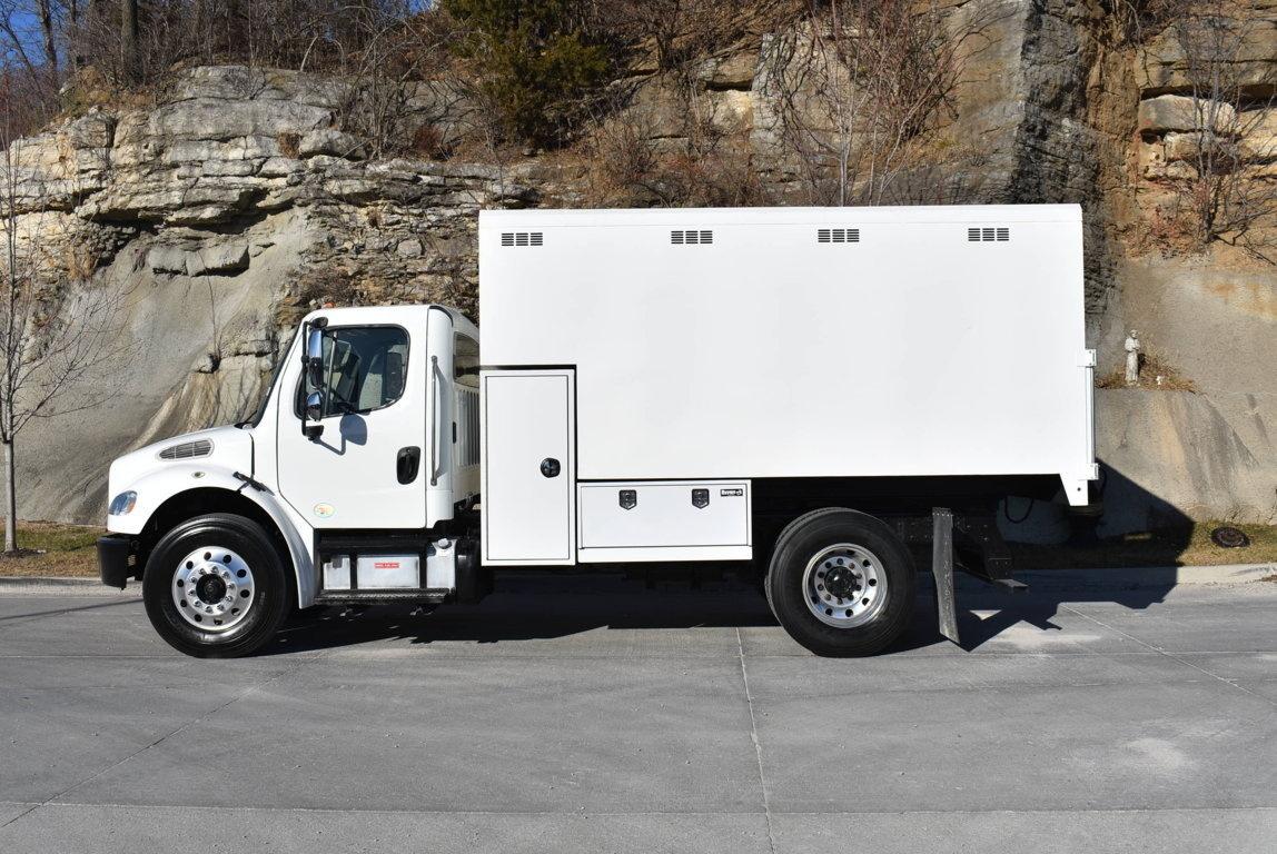 2015 Freightliner M2106 4x2 Chipbox with Hoist Chip Truck