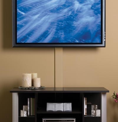 flat screen tv cord cover painted - Cable Hider