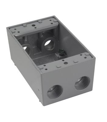 Weatherproof Single Gang Box, Gray