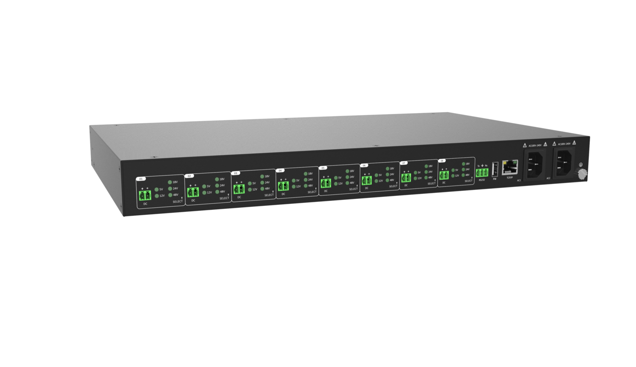 DL-PSU8 - Digitalinx 8 Output Controllable / Selectable Voltage Rack Mount Power Supply