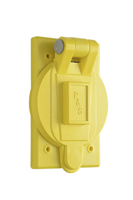 Flip Lid Weatherproof Cover for 20/30A Turnlok®, Yellow