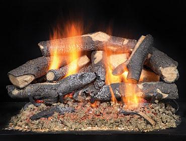 Fireside Supreme Oak See-Through Gas Log Set