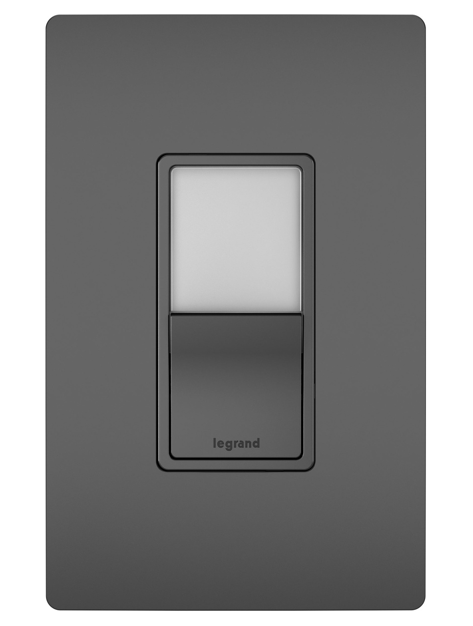radiant® two single pole 3 way switches black legrand night light single pole 3 way switch black