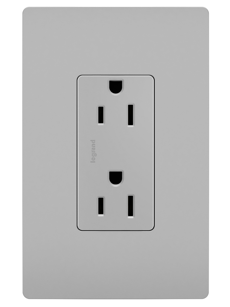 Duplex Receptacle, Gray