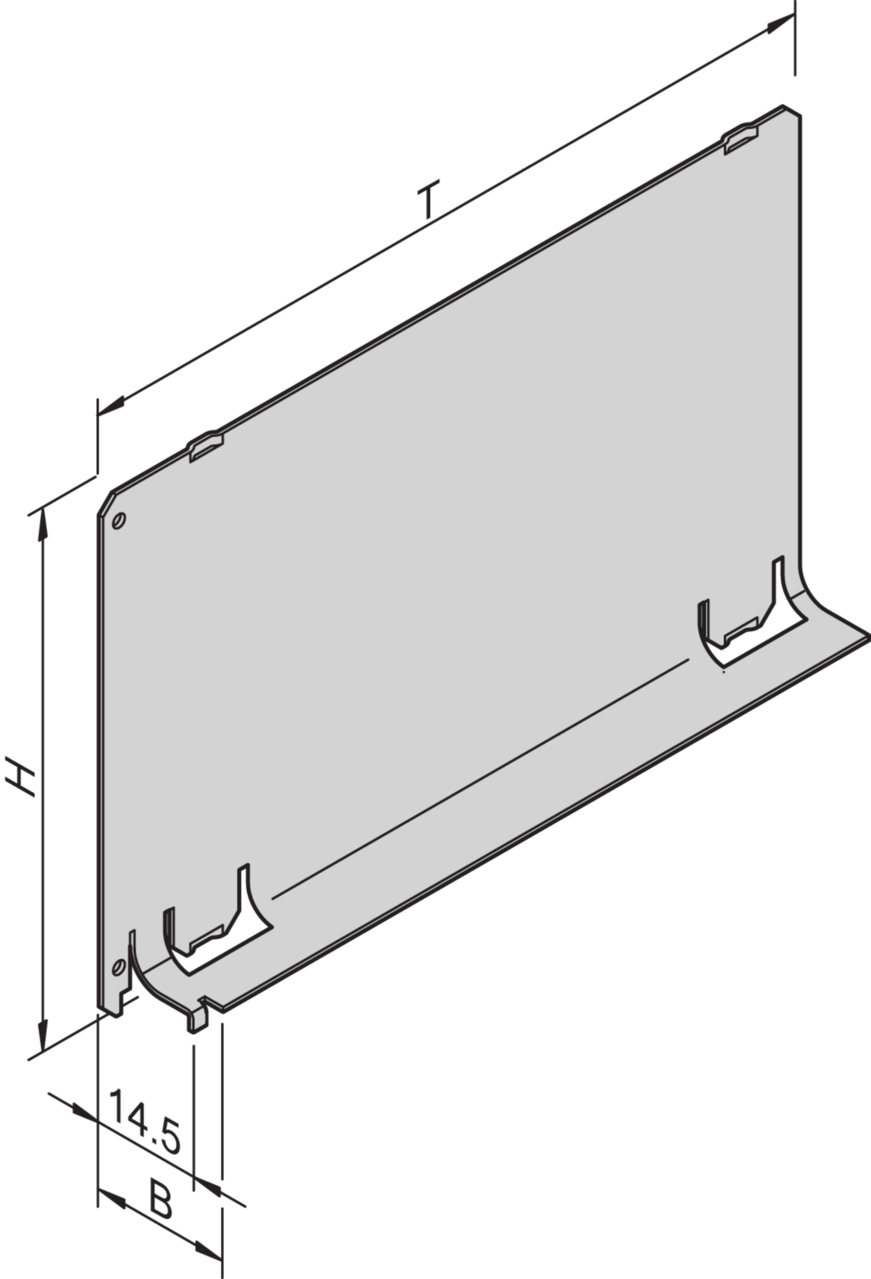 Image for Air baffle without front panel from Schroff - Asia Pacific