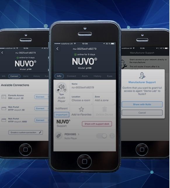 Nuvo Player Portfolio App on iPhones